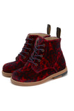 Young Soles Buster Red Velvet Boot-Tassel Children Shoes