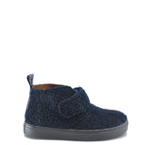 Atlanta Mocassin Navy Shearling Velcro Sneaker Bootie-Tassel Children Shoes