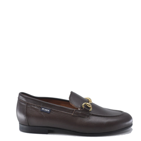 Atlanta Mocassin Mocha Leather Buckle Dress Shoe-Tassel Children Shoes