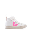 Veja Pink and White Hi-Top Sneaker-Tassel Children Shoes