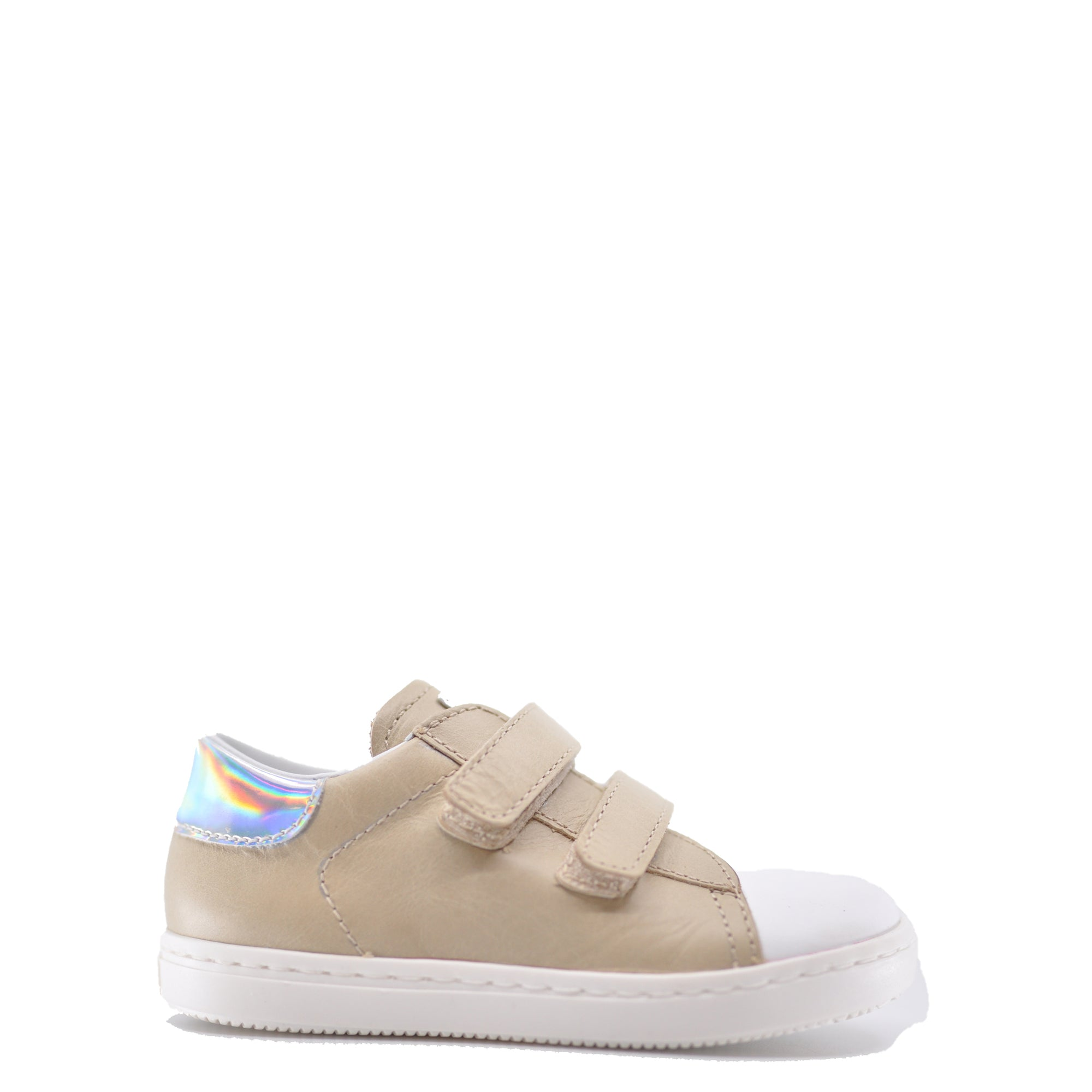 Beberlis Taupe Double Velcro Baby Sneaker-Tassel Children Shoes