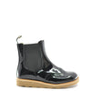 Young Soles Black Patent Wingtip Leather Boot-Tassel Children Shoes