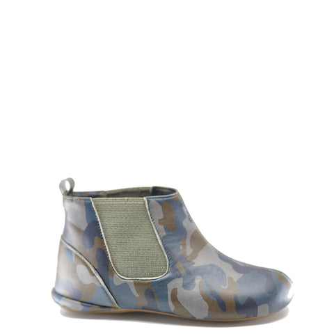 Pepe Camo Leather Elastic Bootie-Tassel Children Shoes