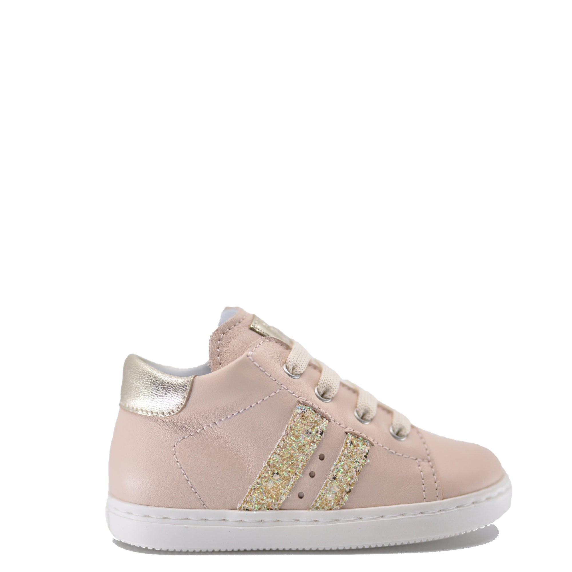 Beberlis Blush Stripe Sneaker-Tassel Children Shoes