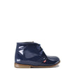 Emel Navy Patent Leather Bootie-Tassel Children Shoes