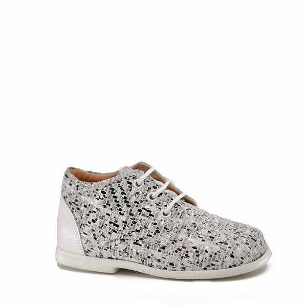 Ruth Black and White Tweed Lace Shoe-Tassel Children Shoes