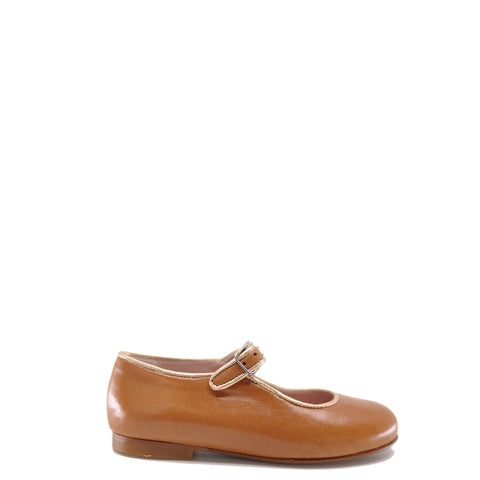 LMDI Caramel Leather Mary Jane-Tassel Children Shoes