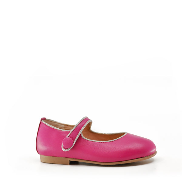 Ruth Pink and Silver Mary Jane-Tassel Children Shoes