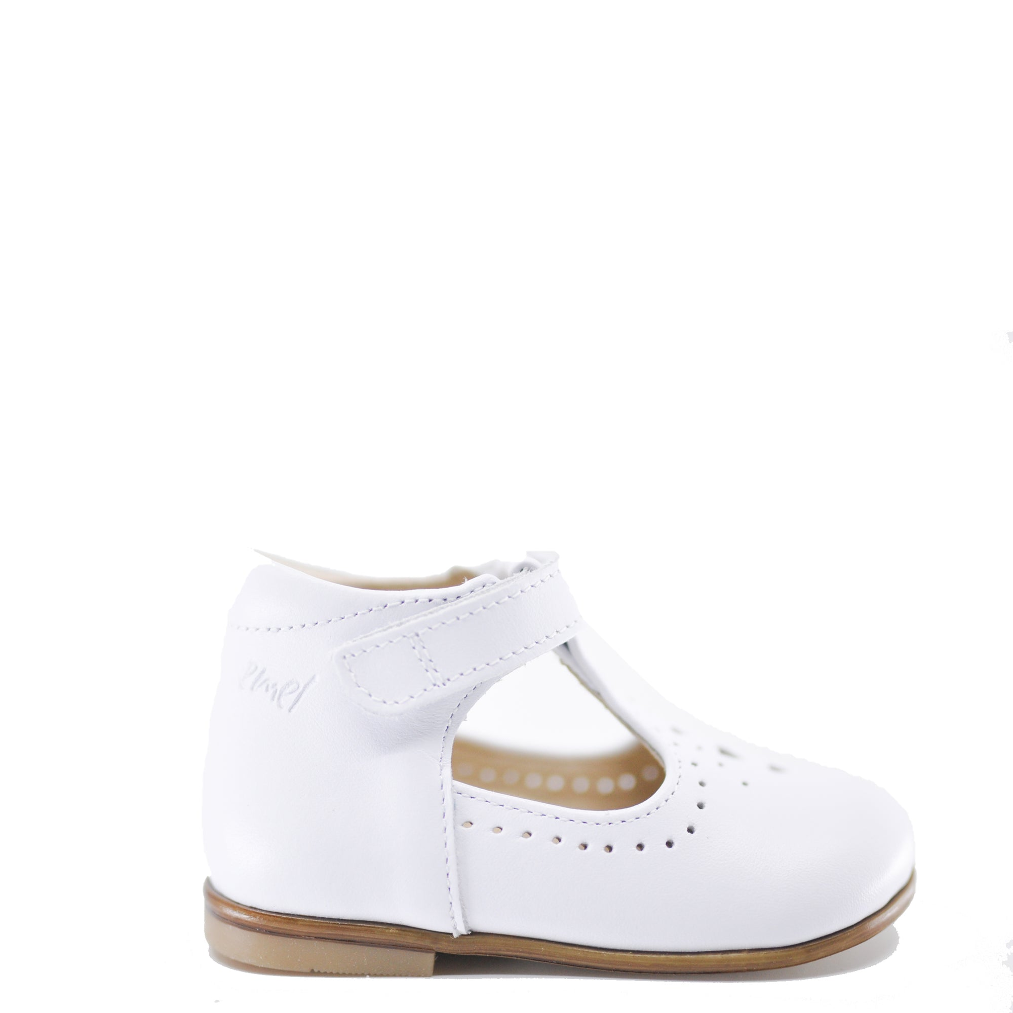 Emel White T-Strap Baby Shoe-Tassel Children Shoes