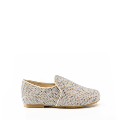Manuela Textured Printed Leather Loafer-Tassel Children Shoes