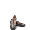 Beberlis Dark Grey Patent T-Strap Mary Jane-Tassel Children Shoes