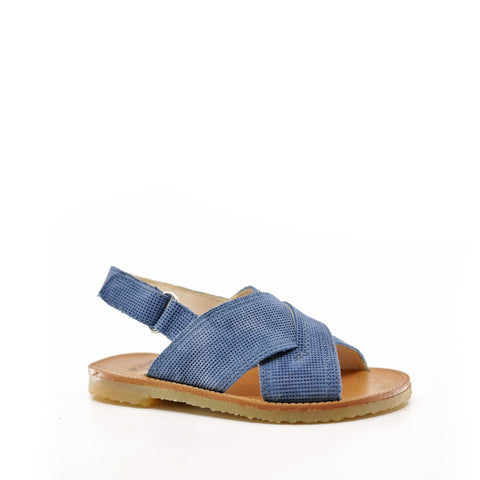 Manuela Blue Jean Criss Cross Sandal-Tassel Children Shoes