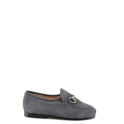 Beberlis Gray Suede Buckle Slip-On-Tassel Children Shoes