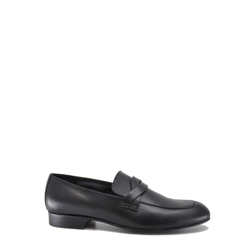 Beberlis Black Leather Twist Dress Shoe-Tassel Children Shoes