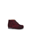 Beberlis Burgundy Printed Velvet Baby Bootie-Tassel Children Shoes