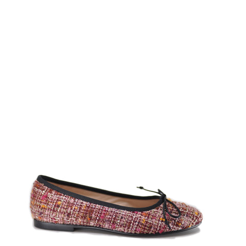 Beberlis Burgundy Tweed Ballet Flat-Tassel Children Shoes