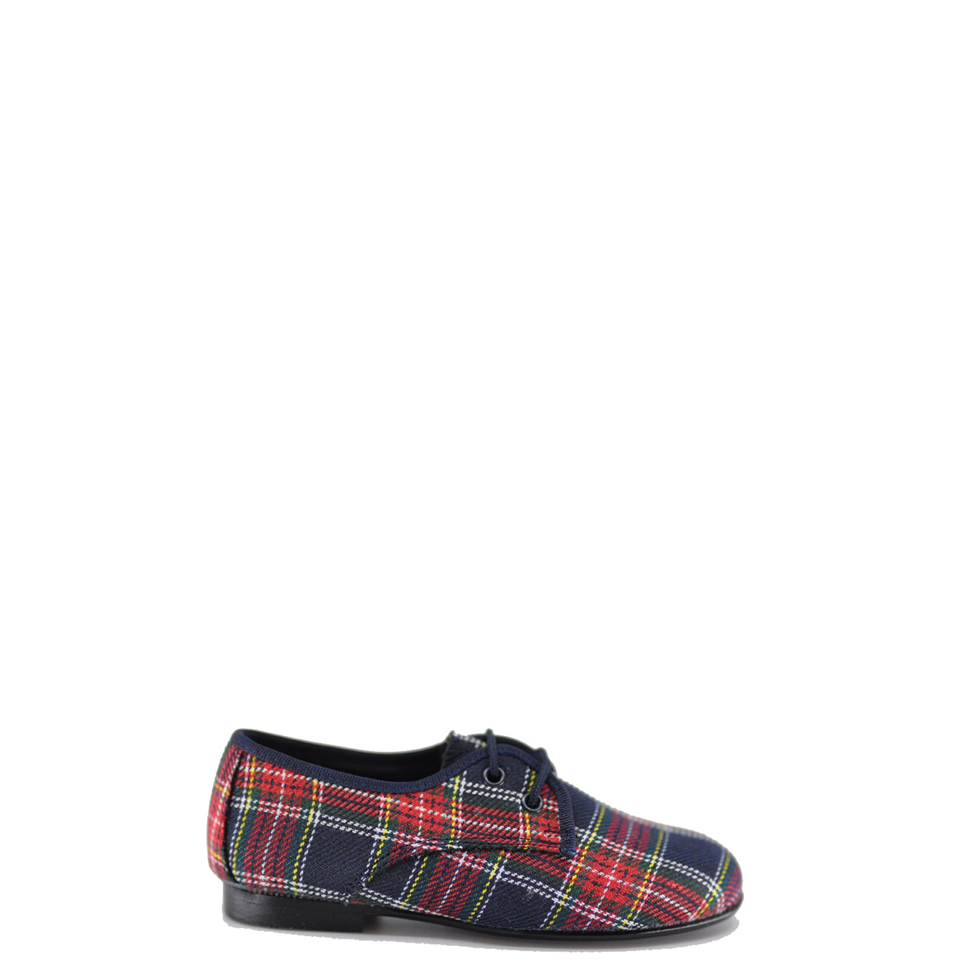 LMDI Scotland Plaid Lace-Up Shoe-Tassel Children Shoes