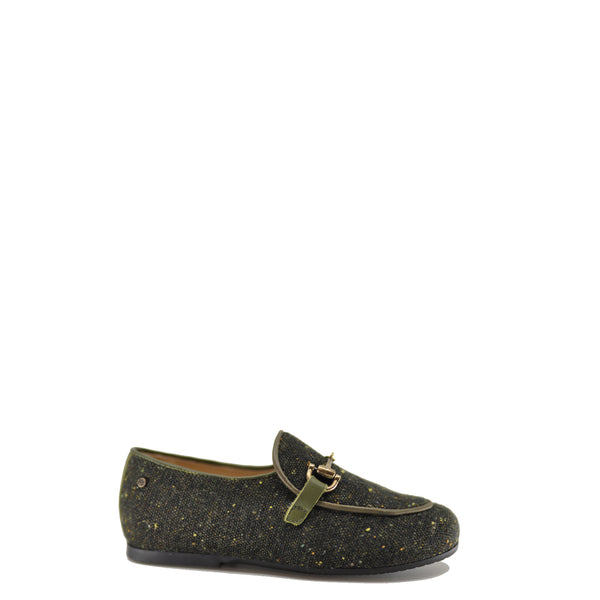 Manuela Hunter Tweed Buckle Loafer-Tassel Children Shoes