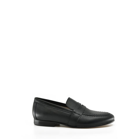 Hoo Navy Leather Penny Loafer-Tassel Children Shoes
