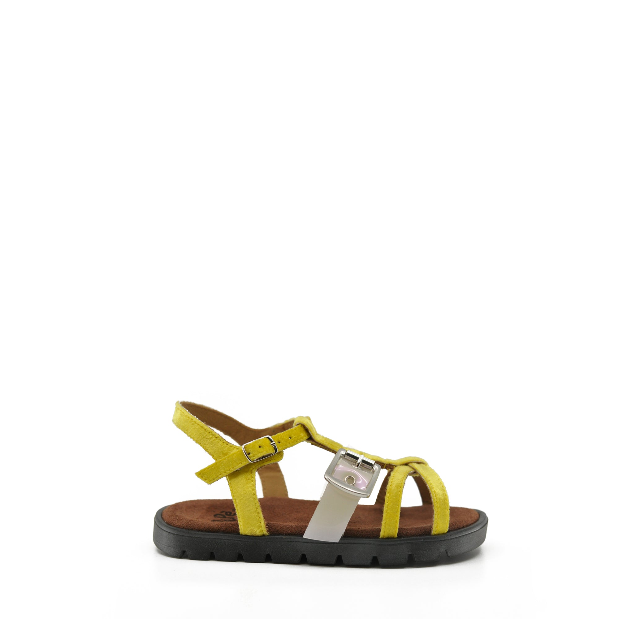 Pepe Yellow Velvet & PVC Sandal-Tassel Children Shoes