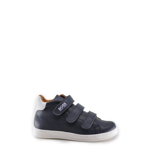 Hugo Boss Navy Triple Velcro Hightop Sneaker-Tassel Children Shoes