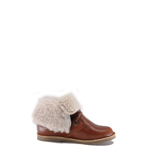 Manuela Luggage Shearling Pullover Bootie-Tassel Children Shoes