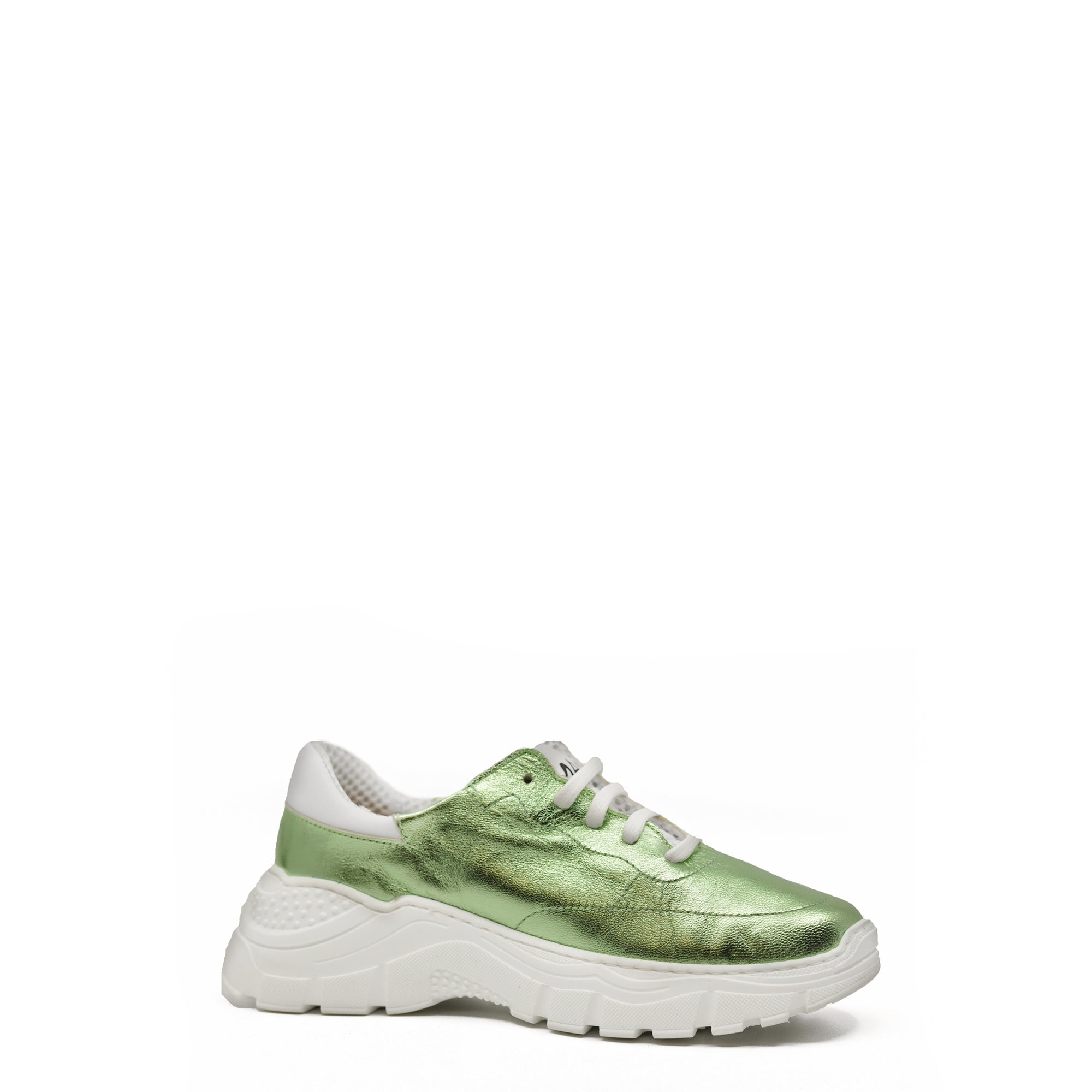 MAA Mint Leather and White Gauze Grandpa Sneaker-Tassel Children Shoes