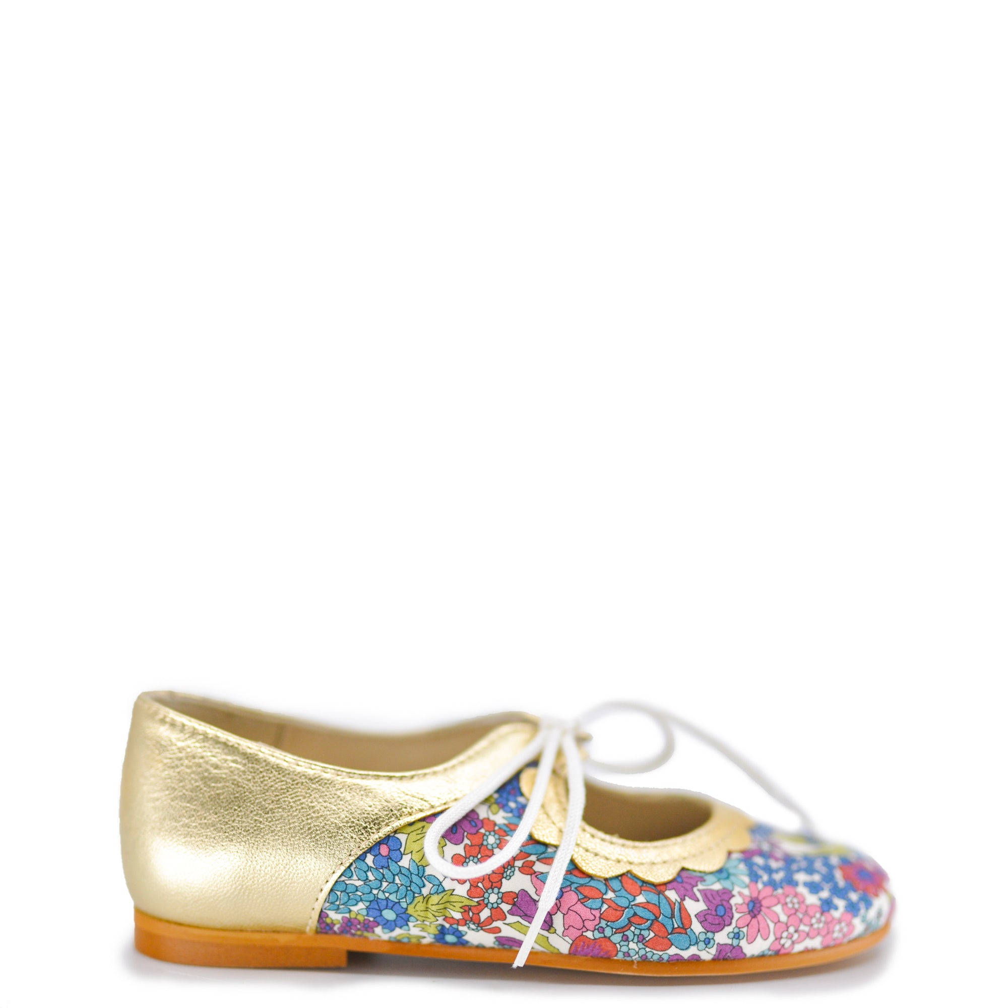 Sonatina Floral Scalloped Mary Jane-Tassel Children Shoes