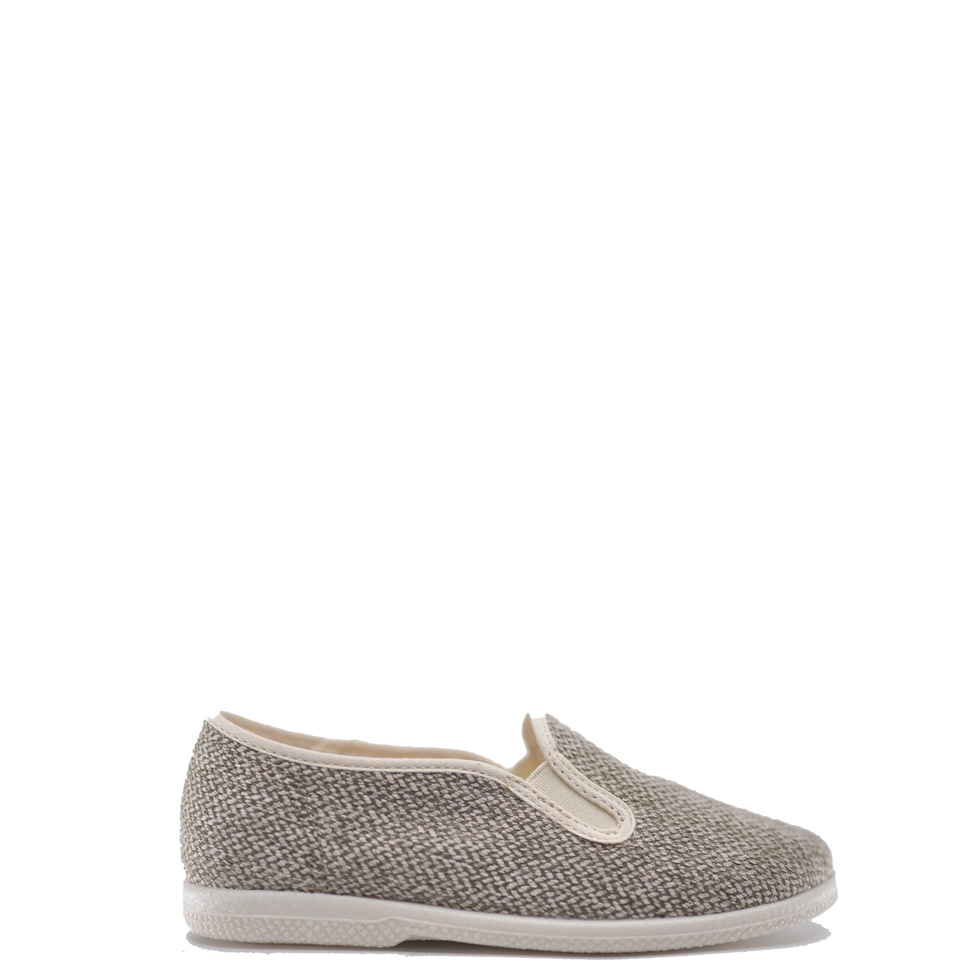 Pepe Taupe Linen Weave Slip On Shoe-Tassel Children Shoes