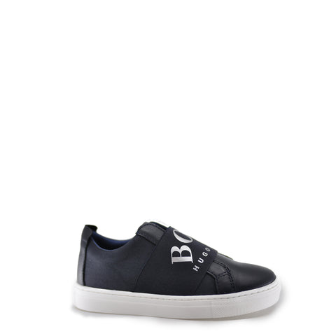 Hugo Boss Navy Logo Elastic Slip-On Sneaker-Tassel Children Shoes