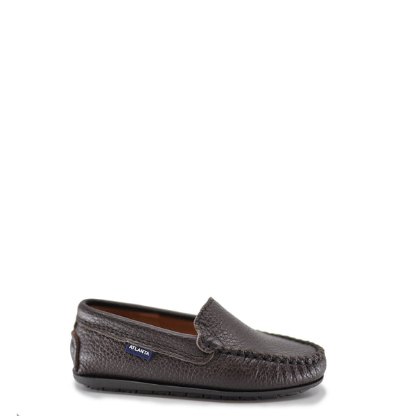 Atlanta Mocassin Mocha Pebbled Loafer-Tassel Children Shoes