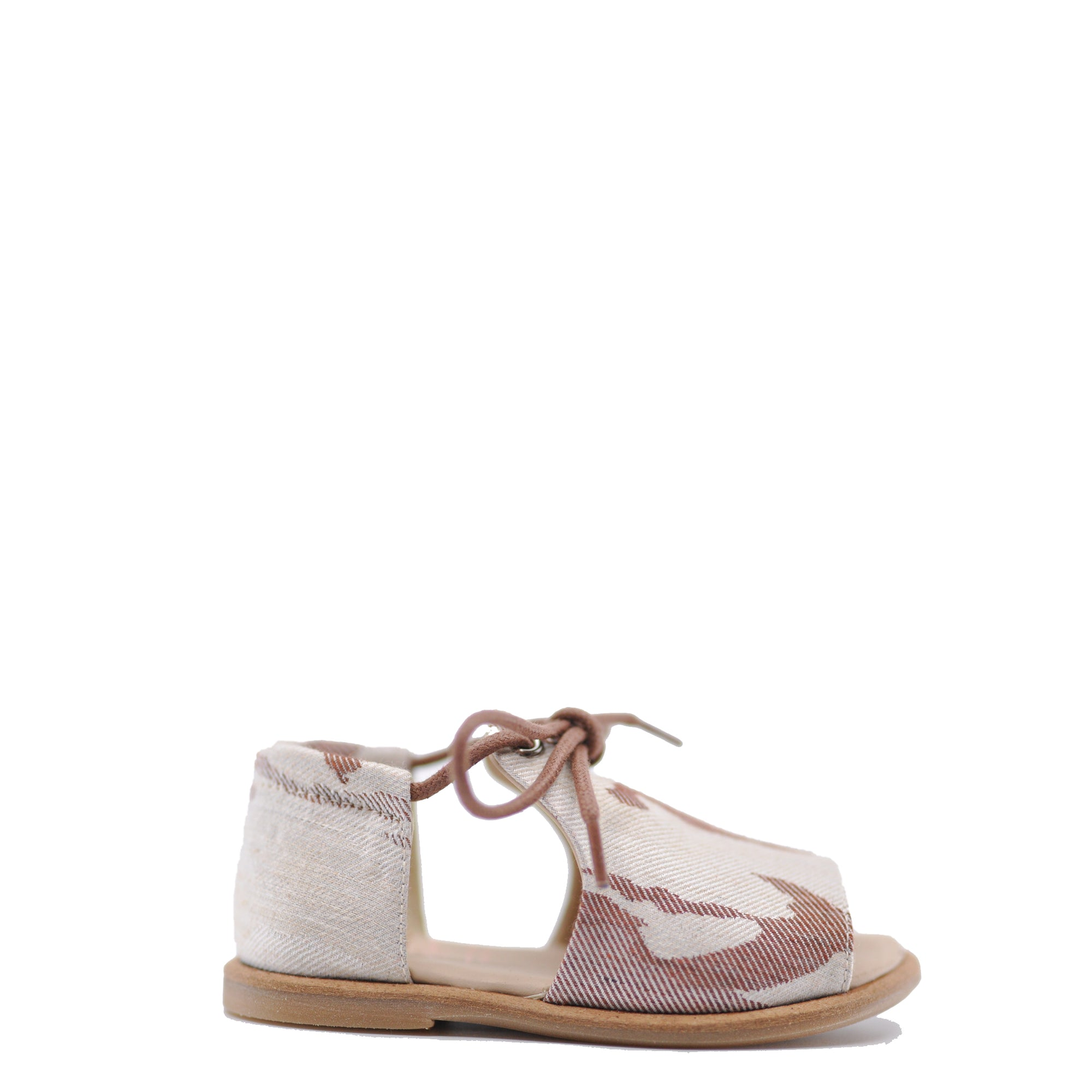 Manuela Brown Pattern Baby Sandal-Tassel Children Shoes