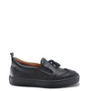 Atlanta Mocassin Black Leather Tassel Sneaker-Tassel Children Shoes