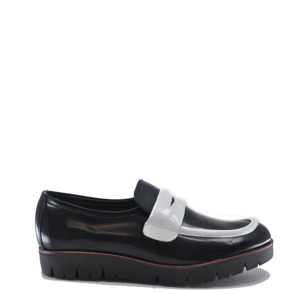 LMDI Black and White Slip-On Loafer-Tassel Children Shoes