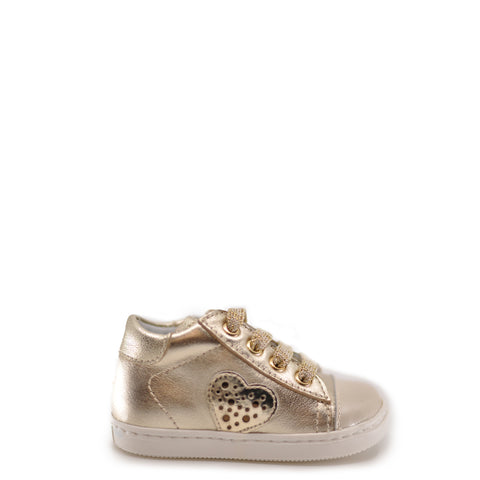 Beberlis Off-White and Gold Baby Sneaker-Tassel Children Shoes