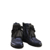 Beberlis Navy and Black Shimmer Fringe Bootie-Tassel Children Shoes
