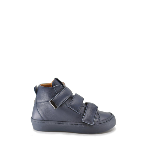 Babywalker Navy Leather Velcro Sneaker-Tassel Children Shoes