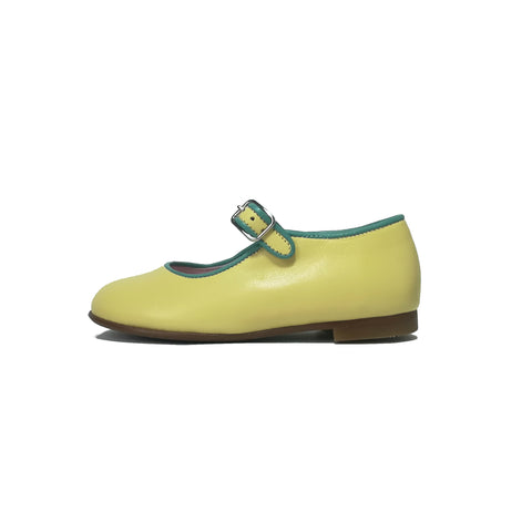 LMDI Collection Yellow Leather Mary Jane-Tassel Children Shoes