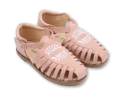 Anchor & Fox Peach Sicily Sandal-Tassel Children Shoes