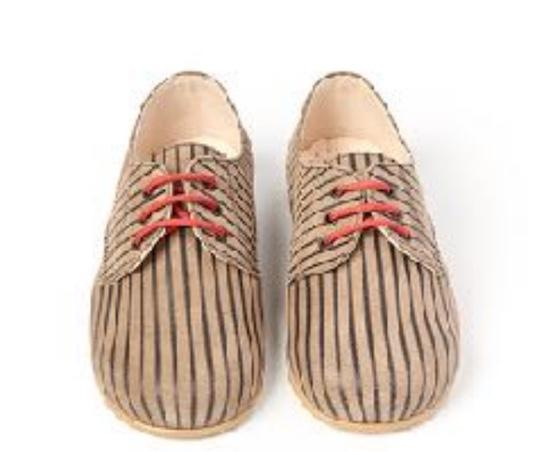 Sonatina Chestnut Stripe Oxford-Tassel Children Shoes