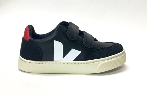 Veja Black Velcro Sneaker-Tassel Children Shoes