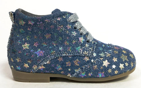Blublonc Jean Holographic Star Bootie-Tassel Children Shoes