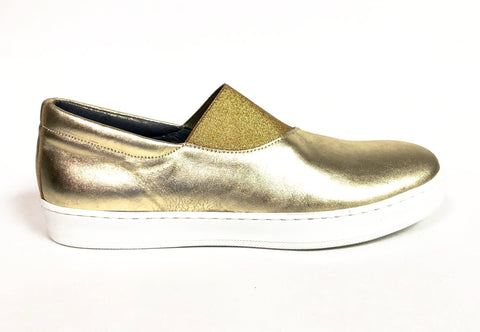 Blublonc Gold Elastic Slip-on Sneaker-Tassel Children Shoes