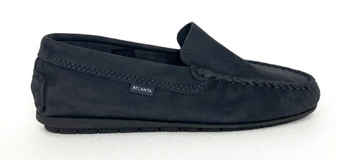 Atlanta Mocassin Navy nubok Loafer-Tassel Children Shoes