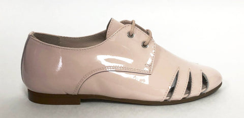 Beberlis Pink Patent Oxford With Side Slits-Tassel Children Shoes