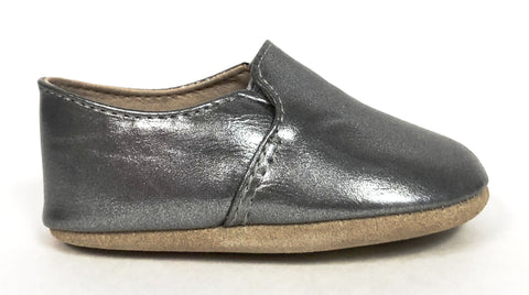 Zeebra Grey Metallic Soft Sole Loafer-Tassel Children Shoes