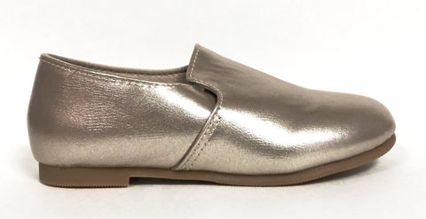 Zeebra Champagne Metallic Loafer-Tassel Children Shoes