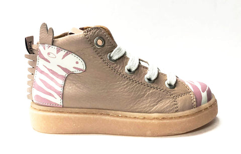 MAA Pink/Zebra High Top Sneaker-Tassel Children Shoes