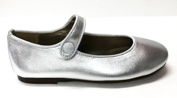 Papanatas Silver Mary Jane-Tassel Children Shoes