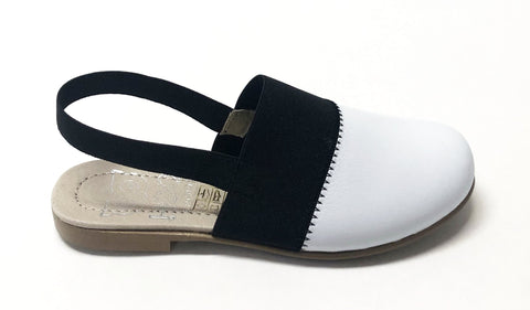 Hoo Black and White Mule-Tassel Children Shoes